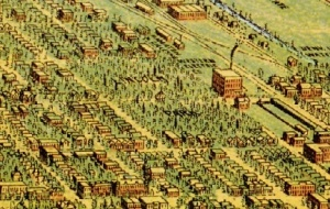 From Perspective Map of the City of Denver, Colorado ,1889 by  Wellge, H. (Henry), American Pub. Co., 1889. Courtesy The Denver Public Library, Western History Collection, CG4314.D4 1889.W4