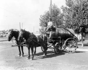 Sprinkler Wagon courtesy DPL, Western History Collection, X-23722