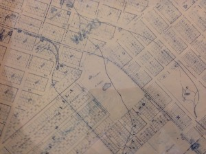 Map showing Baker Residence, Courtesy DPL, Western History Collection