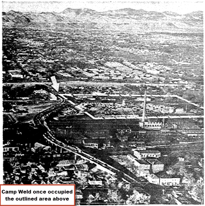 Camp Weld Area Arial Image Circa 1930s