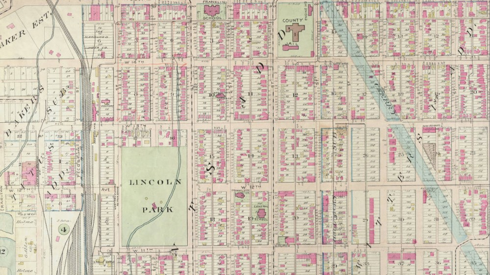 Baist's real estate atlas of surveys of Denver, Col. (Plate 13) Courtesy DPL, Western History Collection C912.78883 B165bai 1905