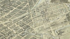 Bird's eye view of the city of Denver Colorado 1882. Courtesy DPL, Western History Collection, CG4314.D4 1882 F55