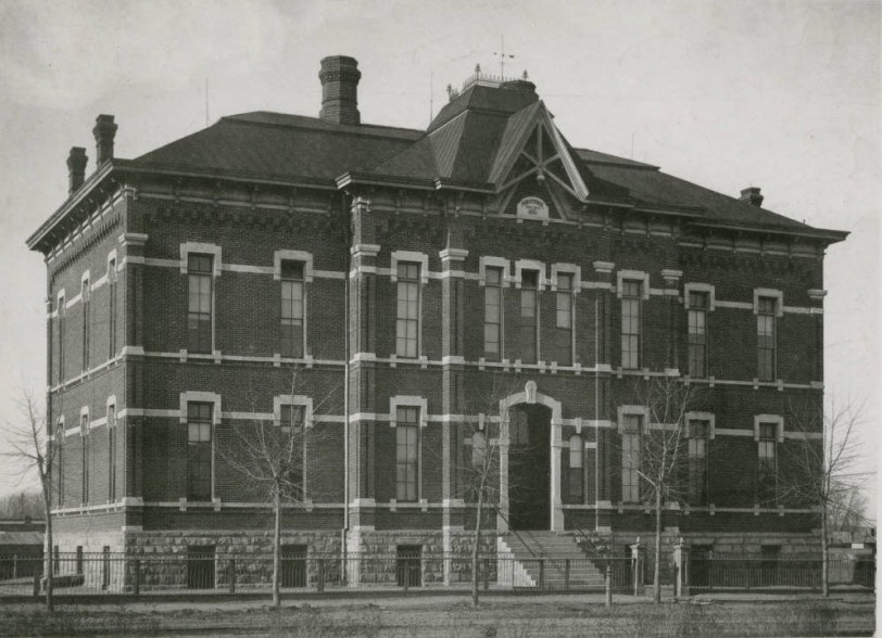Central School prior to 1952 demolition. Courtesy DPL Western History Collection WH1990