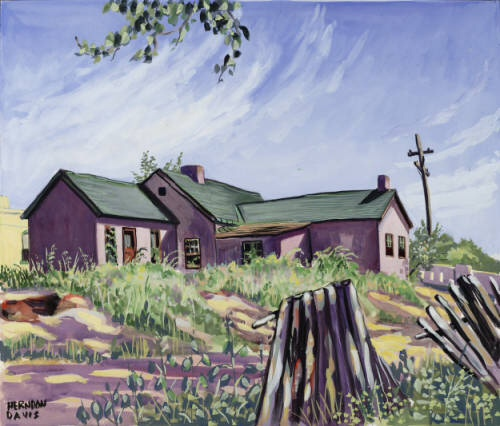 Camp Weld building painted by local artist Herndon Davis in 1940. Courtesy DPL, Western History Collection Z-2934; C41-8 ART