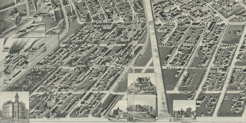 Perspective map of the city of Denver, Colo. 1889. Wellge, H. (Henry) Courtesy DPL, Western History Collection CG4314.D4 1889.W4