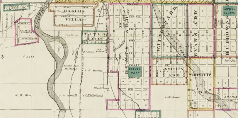 Thayer's map of Denver, Colorado 1879