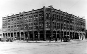 Barnard Block at 8th and Kalamath Sts (approx 1930), DPL Western History Collection X-24828