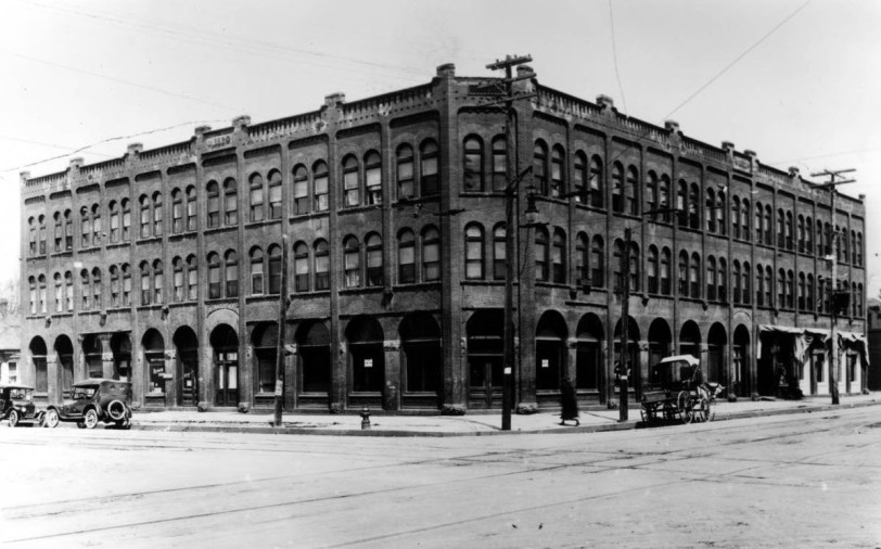 8th and Kalamath Sts (approx 1930), DPL Western History Collection X-24828