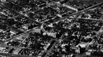 "Aerial View of West Colfax 1933, ""Cherry Creek"". Courtesy of DPL Western History Collection X-24002"