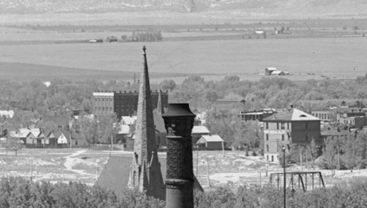 Barnard Block Zoom from 1900 Denver Panoramic. Courtesy History Colorado Collection CHS.J2617