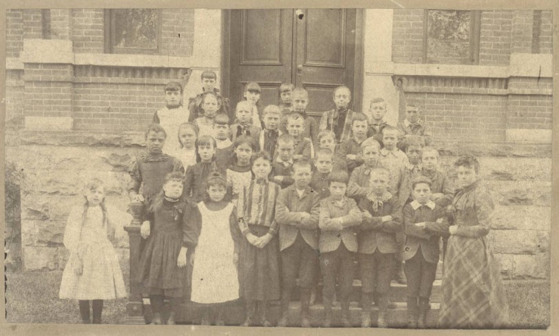 Central School, District 2, Approx 1890, DPL Western History Collection Z-11142