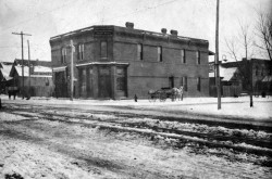 """""""Denver and Rio Grande Railroad Department Young Men's Christian Association."""" 1040 W 8th Ave, SW corner of 8th and Lipan. DPL Western History Collection X-18925"""