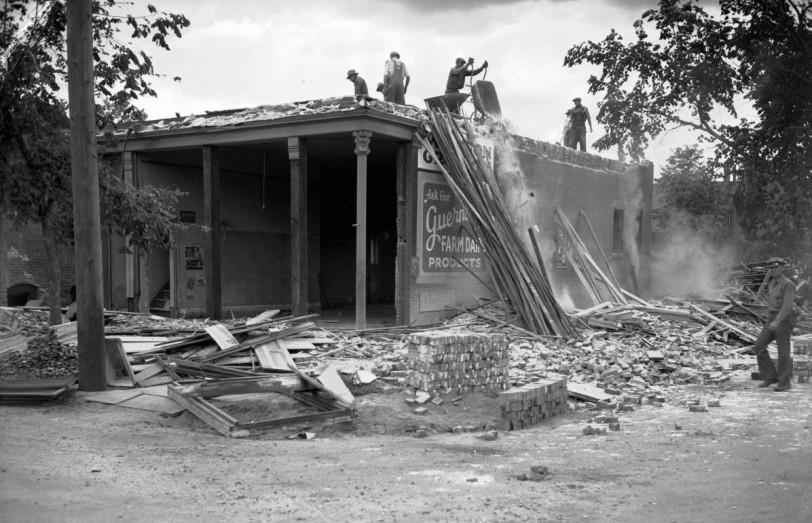Denver urban renewal, Lincoln Park project, 1940. DPL Western History Collection X-29032