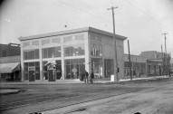 Intersection of Santa Fe drive & 8th, McCarty-Sherman Ford agency. DPL Western History Collection Rh-722
