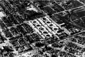 Lincoln Park Project, Denver Colorado, aerial view. Courtesy History Colorado Collection