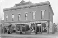 National Tea Co 775 Santa Fe. Harry M. Rhoad's father, Harry Fisher Rhoads built this building in 1888 and operated a hardware store there for many years. DPL Western History Collection Rh-607