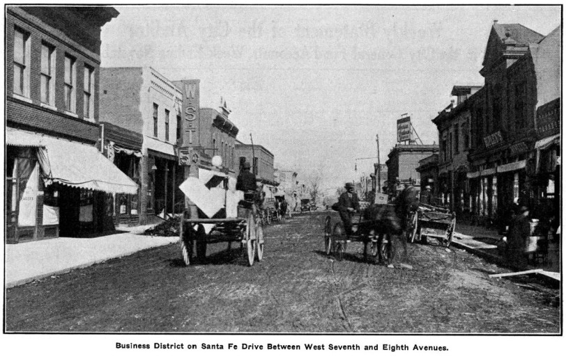 Santa Fe Drive 1913. From Denver Municipal Facts  1913 November 22. Courtesy DPL Western History Collection C352.078883 D4373muX2