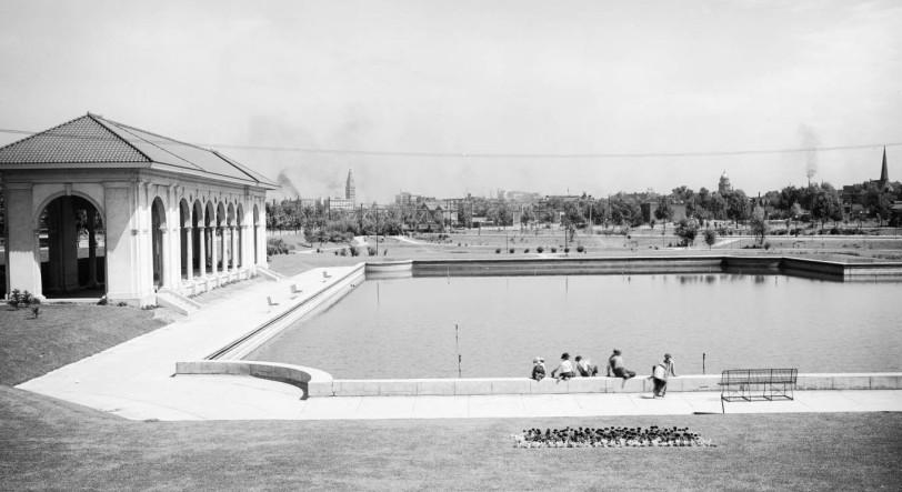 Sunken Garden, Speer Blvd., Denver, DPL Western History Collection MCC-1939
