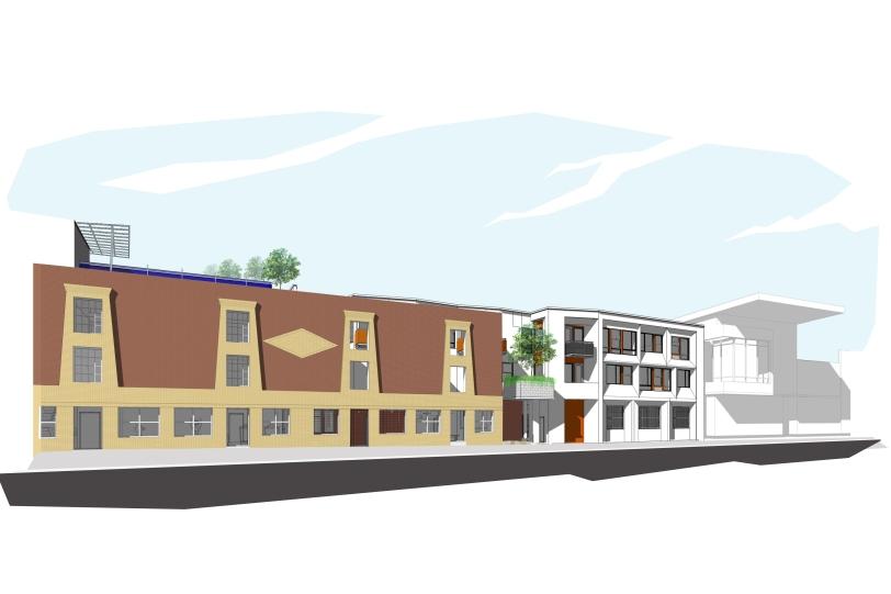 Preliminary Rendering of 1029 Santa Fe Project