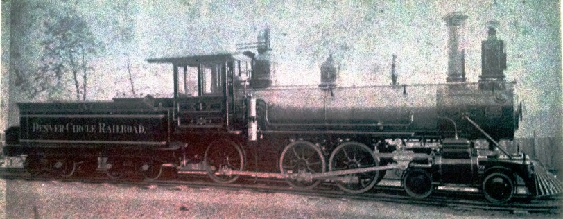 Denver Circle Steam Engine #4. Photo taken by the New York Locomotive Works before delivery to Denver.