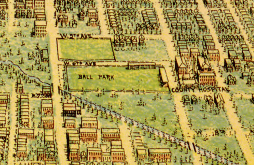 1907 Flett Map Ball Park BroadwayII