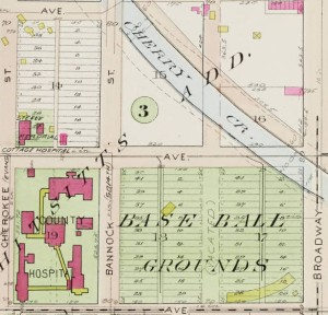 Baseball Grounds on Baist Map 1905. Courtesy of DPL Western History Collection