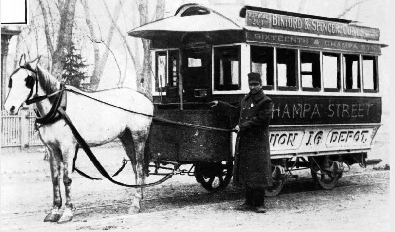 Champa Street horsecar DPL  X 27856
