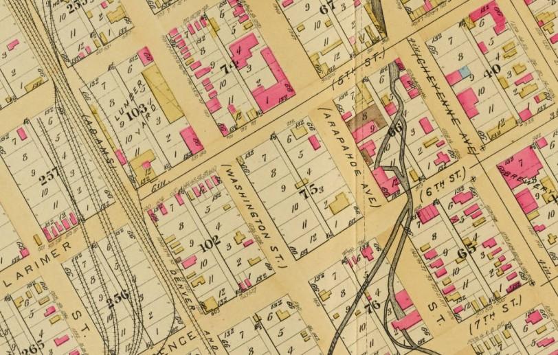 larimer-cheyenne-6th-arapahoe-1st-woolen-mill-robinsons-atlas-plate2-1887